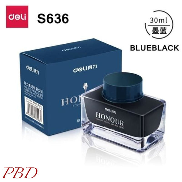 Deli s636 s635 Fountain pen ink 30ml 50ml bottle - Blueblack-30ml - Misc