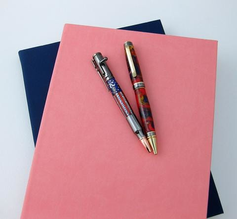 Free journal with the purchase of two pens
