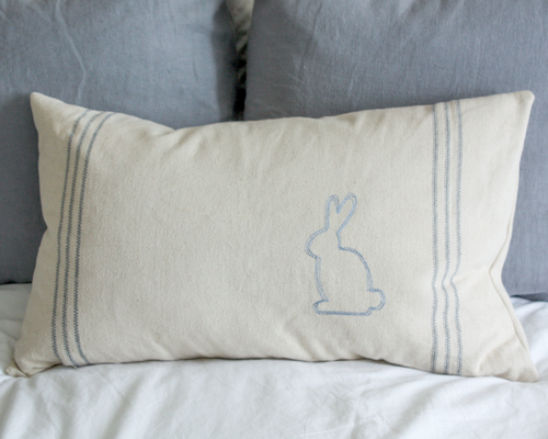 Farmhouse Bunny Pillow Cover