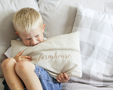 Load image into Gallery viewer, Farmhouse Grain Sack Pillow Cover