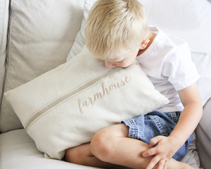 Farmhouse Grain Sack Pillow Cover