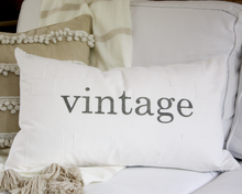 Load image into Gallery viewer, Vintage Farmhouse Patch Pillow Cover