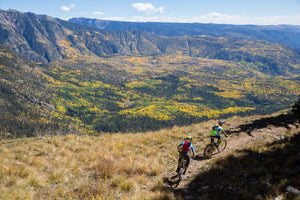 Mountain biking in fall colors Durango, Colorado