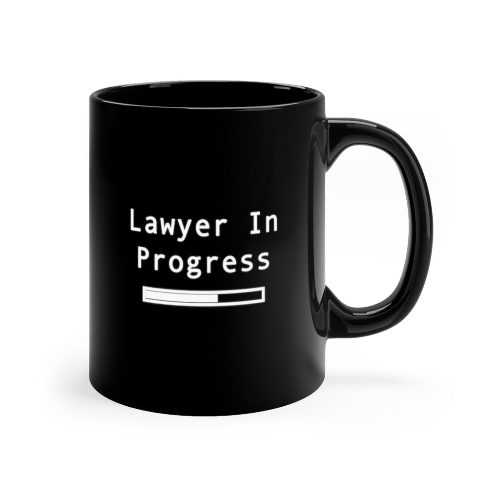 lawyer in progress  Black mug 11oz - mugsouk
