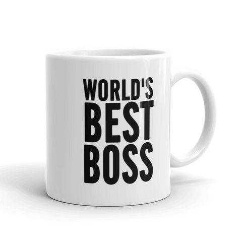 World's Best Boss large Ceramic Coffee Mug - mugsouk