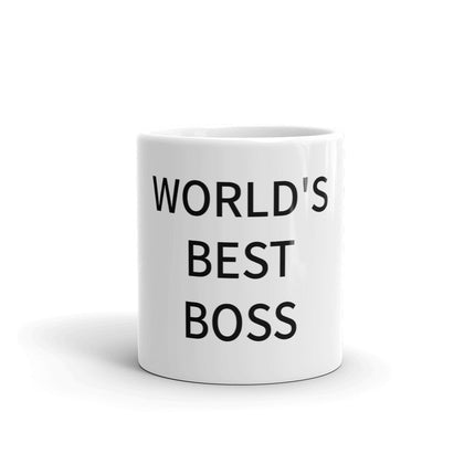 The Office World's Best Boss White Mug - mugsouk