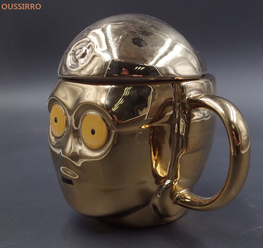 3D  C-3PO Gold Coffee Mugs Limited Edition cup - mugsouk