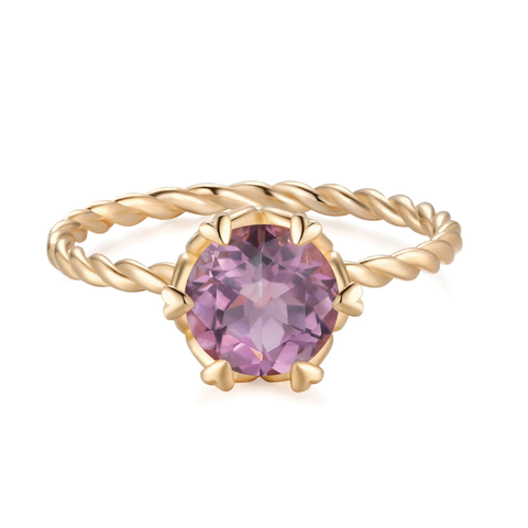 Amethyst Birthstone Ring by Love by the Moon