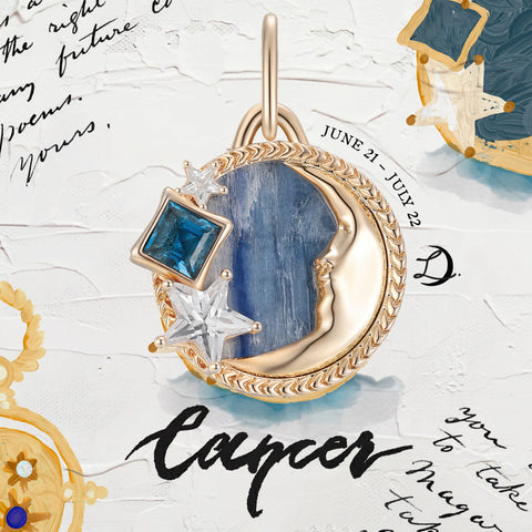 Cancer Zodiac Pendent by Love by the Moon