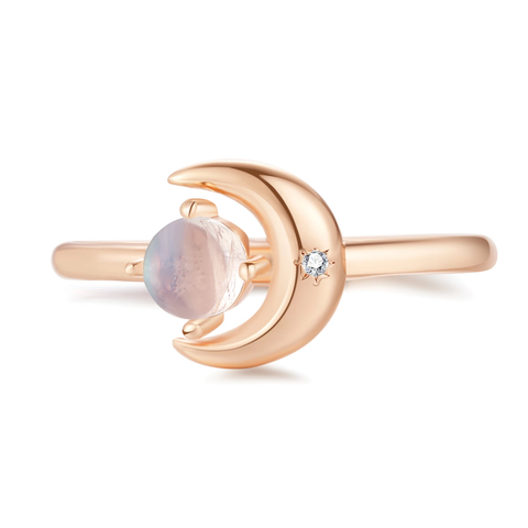Moonshine, Moonstone Ring by Love by the Moon studio