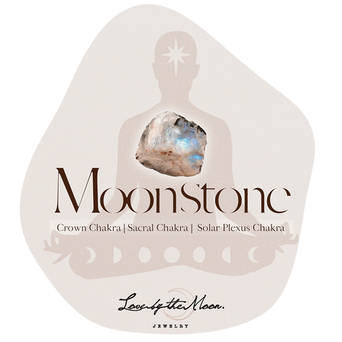 Moonstone to tune into your crown, sacral and solar plexus chakra