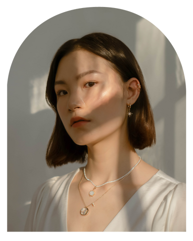 Leo Zodiac Pendent by Love by the Moon Studio - Model Shot
