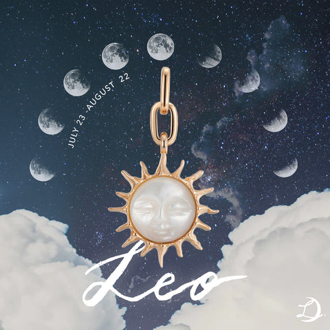 Leo's Mother of Pearl Pendant by Love by the Moon Studio