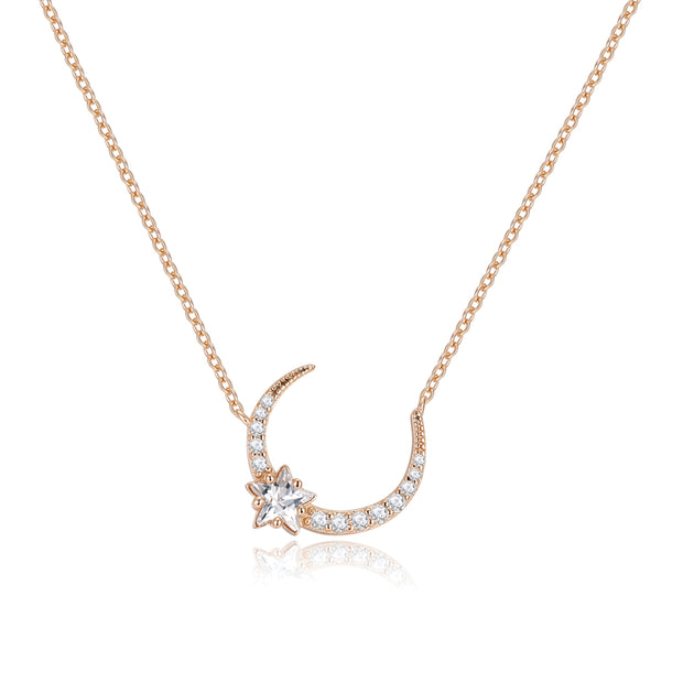 CZ Gold Necklace - Night Time