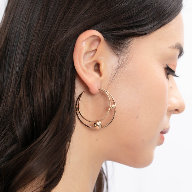 (Preorder)Orbit Gold Hoop Earrings