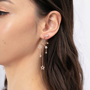 CZ Gold Asymmetrical Earrings - Imagine