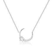 CZ Silver Necklace - Night Time
