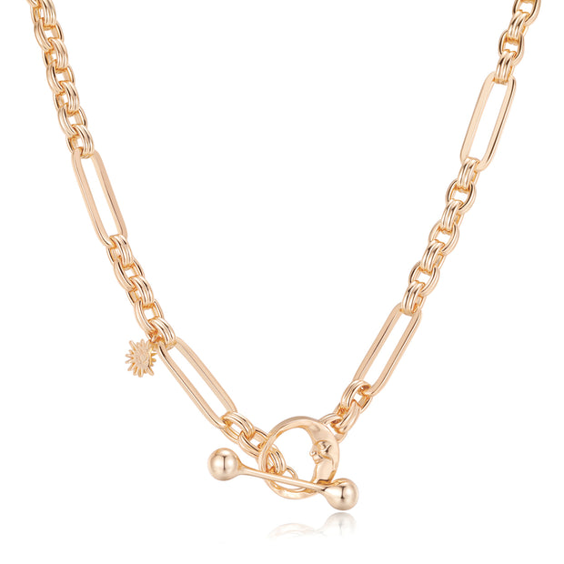 Gold Toggle Necklace - Embrace