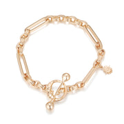 Gold Toggle Bracelet - Embrace