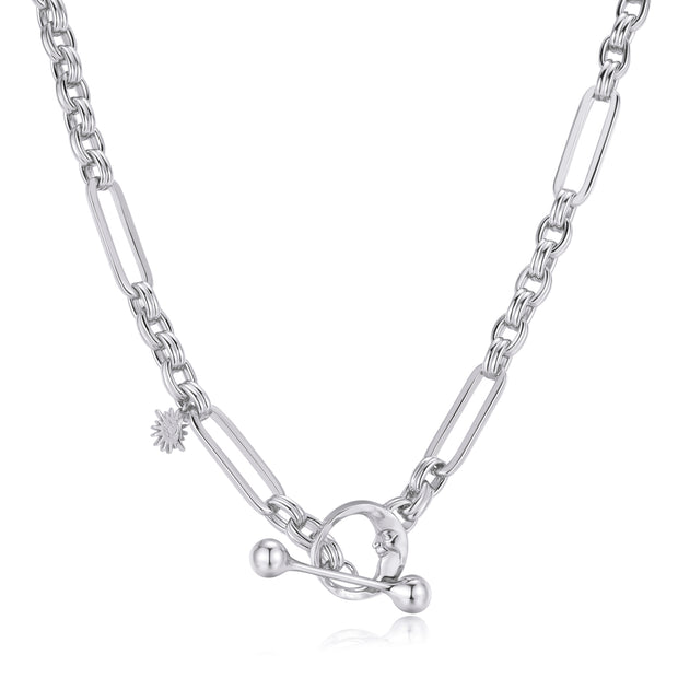 Silver Toggle Necklace - Embrace