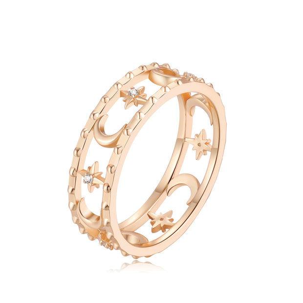CZ Gold Ring - Faith