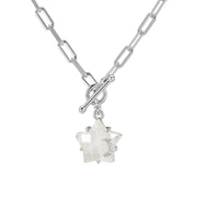 Moonstone Toggle Silver Necklace - Wishing Star