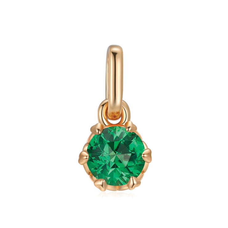 Emerald CZ Diamond pendant