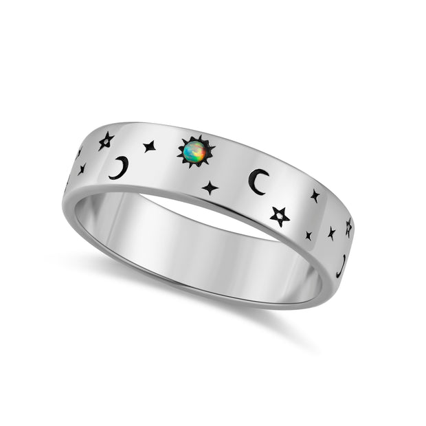 Opal 2-way Silver Ring - Dreamer
