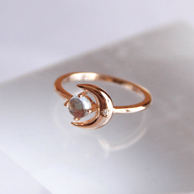 Topaz Gold Ring - Moonshine