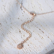 CZ Gold Layered Necklace - Selene