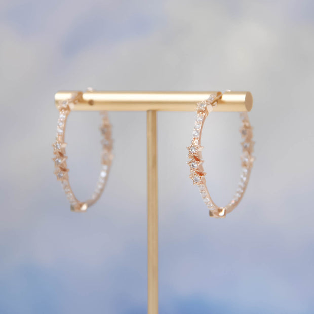 (Preorder)Nova Gold Hoop Earrings