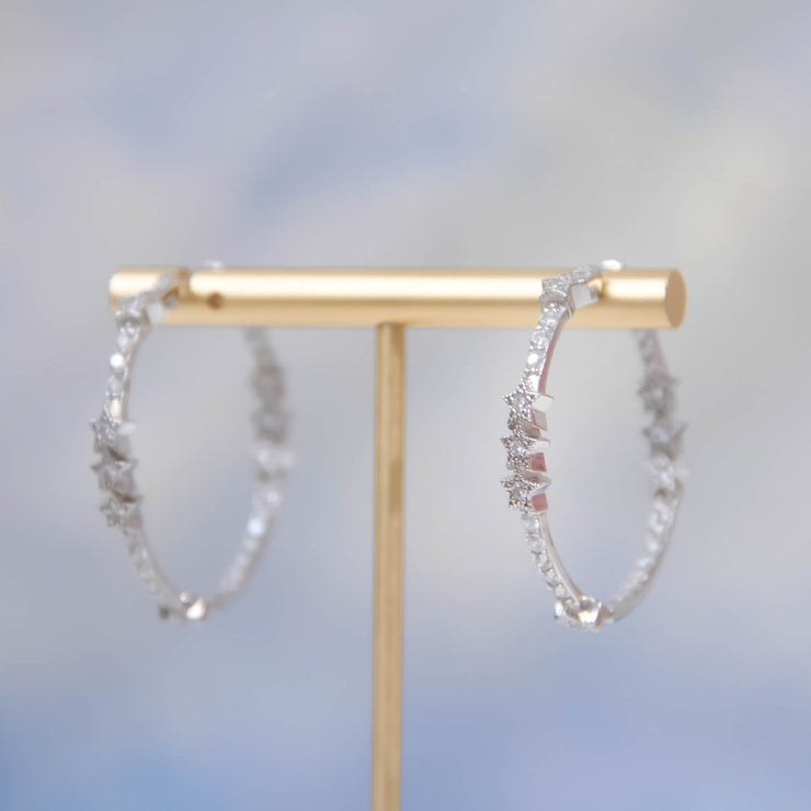 (Preorder)Nova Silver Hoop Earrings