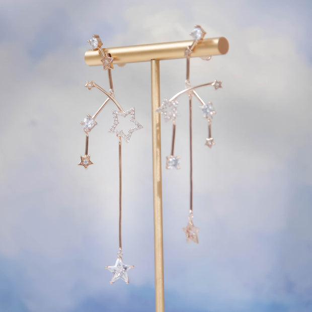(Preorder)Imagine Gold Asymmetrical Earrings
