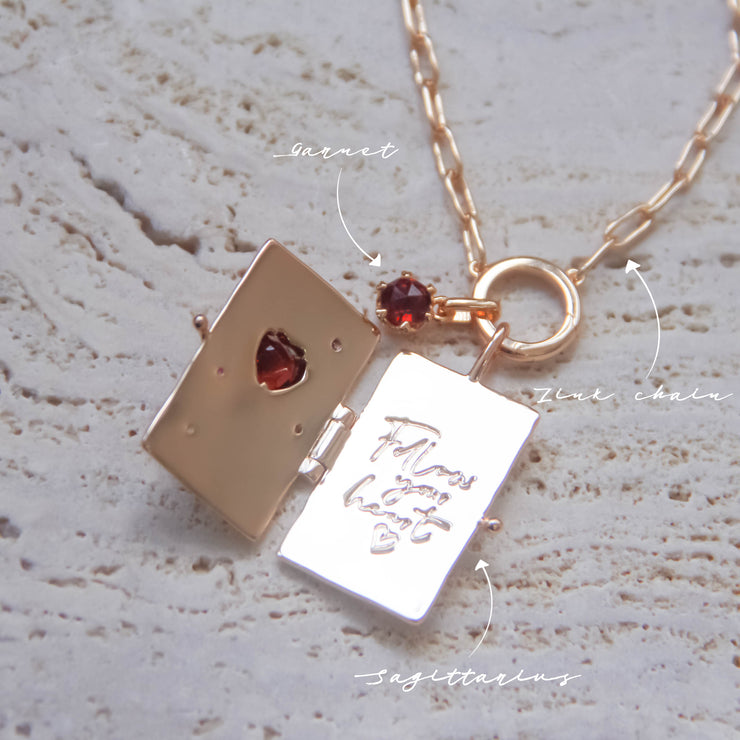 Sagittarius Garnet necklace