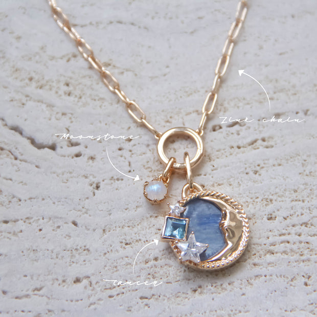 Cancer Kyanite and Topaz Necklace