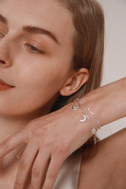 Love by the Moon Silver Bracelet - Love by the Moon