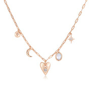 Moonstone Gold Choker - Heart Space
