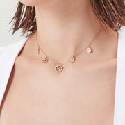 CZ Gold Choker - Love By the Moon
