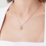 Moonstone Gold Toggle Necklace - Lover