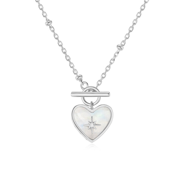 Moonstone Silver Toggle Necklace - Lover