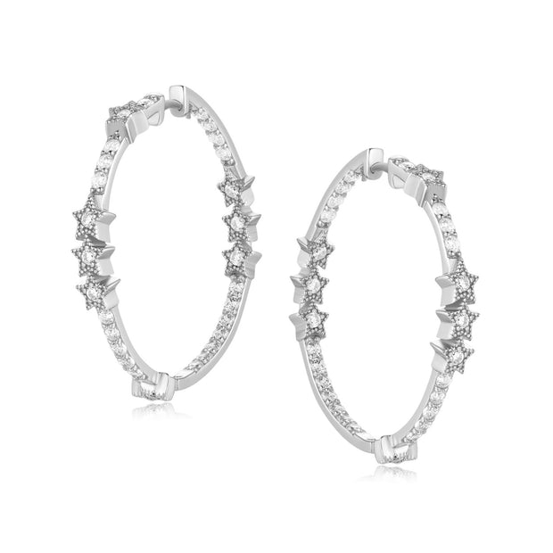 Silver Hoop Earrings - Nova