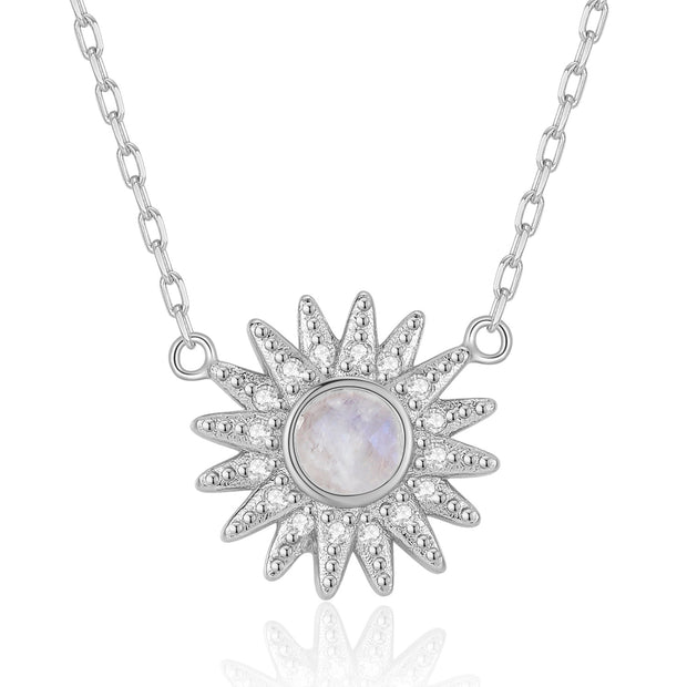Moonstone Silver Necklace - Ray of Light