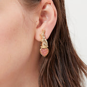 Sweet Talk Clip On Earrings (Pink Druzy)