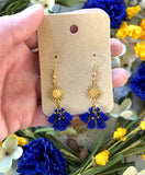 The Delilah Earring - Cobalt Blue