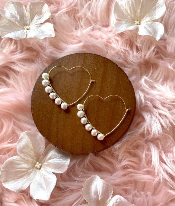 The Valentina Hoop - Pearl