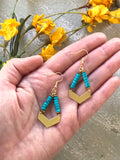 The Heishi Earring - Turquoise
