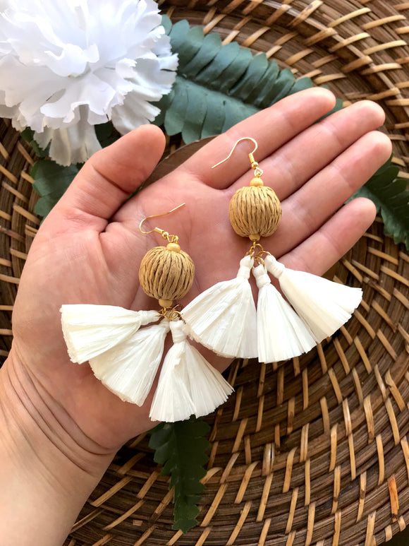 The Nailah Earring - White