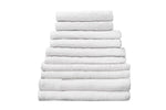 "Partex Economy™ 12"" x 12"" White Towels"