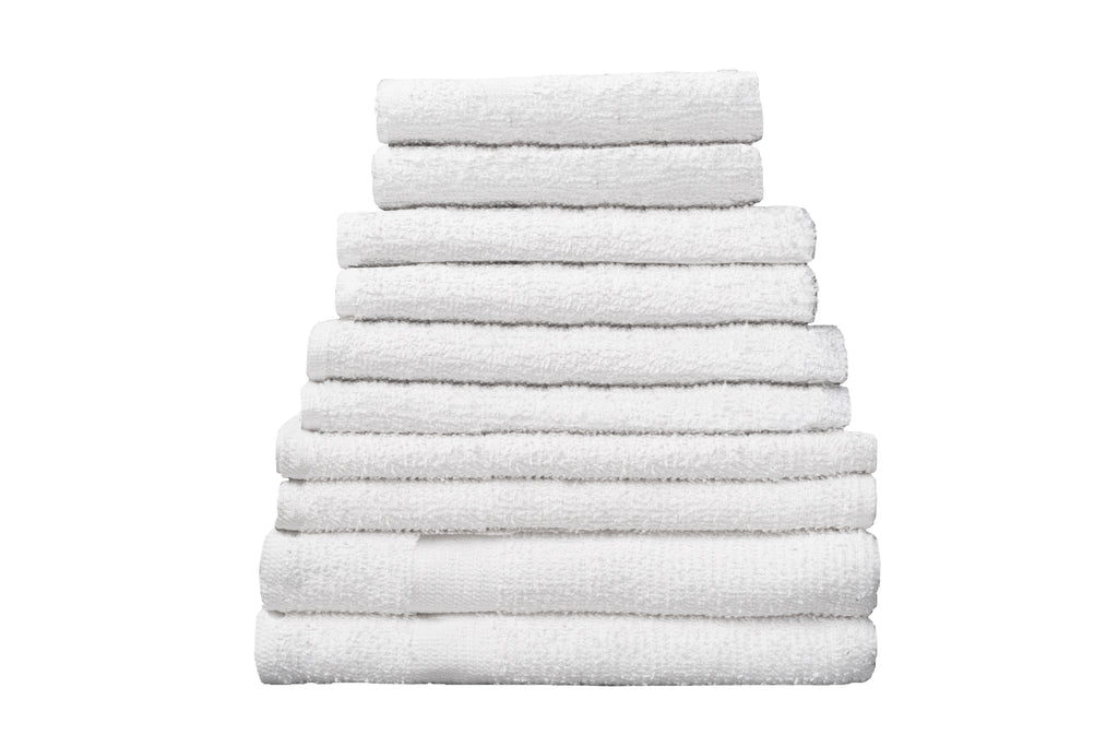 "Partex Economy™ 24"" x 50"" White Towels"