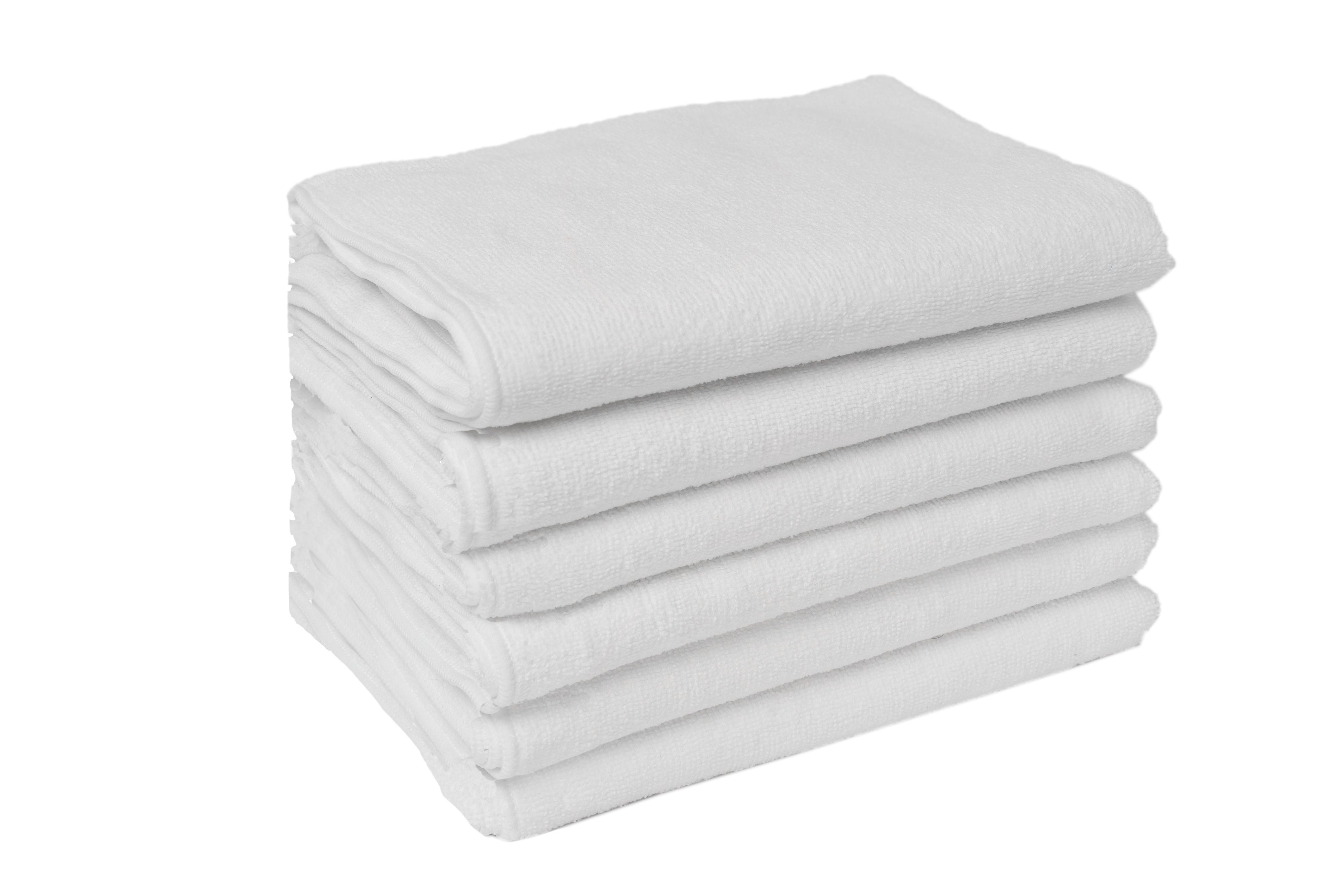 Partex micro4™ Microfiber Terry Black and White Towels